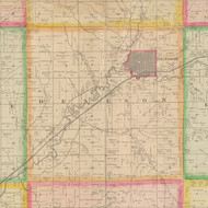 Denison, Iowa 1883 Old Town Map Custom Print - Crawford Co.
