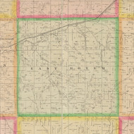 East Boyer, Iowa 1883 Old Town Map Custom Print - Crawford Co.