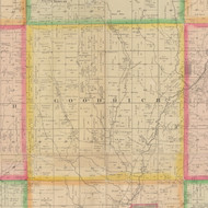 Goodrich, Iowa 1883 Old Town Map Custom Print - Crawford Co.