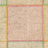Hanover, Iowa 1883 Old Town Map Custom Print - Crawford Co.