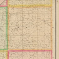 Hays, Iowa 1883 Old Town Map Custom Print - Crawford Co.