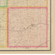 Iowa, Iowa 1883 Old Town Map Custom Print - Crawford Co.