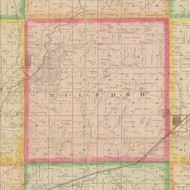 Milford, Iowa 1883 Old Town Map Custom Print - Crawford Co.