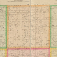 Morgan, Iowa 1883 Old Town Map Custom Print - Crawford Co.
