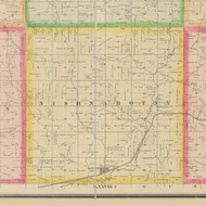 Nishnabotny, Iowa 1883 Old Town Map Custom Print - Crawford Co.