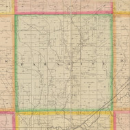 Paradise, Iowa 1883 Old Town Map Custom Print - Crawford Co.