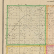 Soldier, Iowa 1883 Old Town Map Custom Print - Crawford Co.