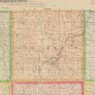 Stockholm, Iowa 1883 Old Town Map Custom Print - Crawford Co.