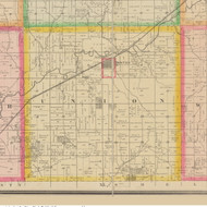 Union, Iowa 1883 Old Town Map Custom Print - Crawford Co.
