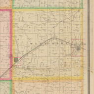 West Side, Iowa 1883 Old Town Map Custom Print - Crawford Co.