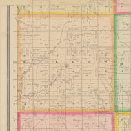 Willow, Iowa 1883 Old Town Map Custom Print - Crawford Co.