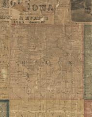 Elk, Iowa 1869 Old Town Map Custom Print - Delaware Co.