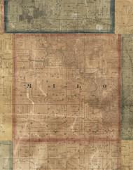 Milo, Iowa 1869 Old Town Map Custom Print - Delaware Co.
