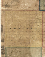 Prairie, Iowa 1869 Old Town Map Custom Print - Delaware Co.