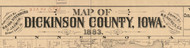 Title of Source Map - Dickinson Co., Iowa 1883 - NOT FOR SALE - Dickinson Co.