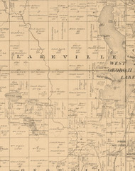 Lakeville, Iowa 1883 Old Town Map Custom Print - Dickinson Co.