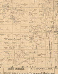 Okoboji, Iowa 1883 Old Town Map Custom Print - Dickinson Co.