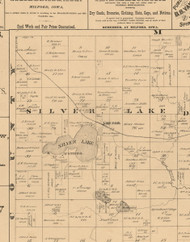 Silver Lake, Iowa 1883 Old Town Map Custom Print - Dickinson Co.