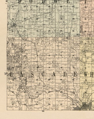 Cascade, Iowa 1900 Old Town Map Custom Print - Dubuque Co.