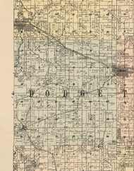 Dodge, Iowa 1900 Old Town Map Custom Print - Dubuque Co.
