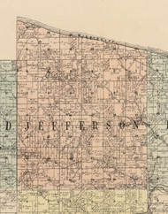 Jefferson, Iowa 1900 Old Town Map Custom Print - Dubuque Co.