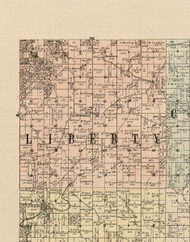 Liberty, Iowa 1900 Old Town Map Custom Print - Dubuque Co.