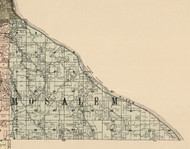 Mosalem, Iowa 1900 Old Town Map Custom Print - Dubuque Co.