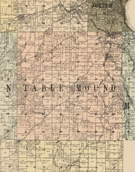 Table Mound, Iowa 1900 Old Town Map Custom Print - Dubuque Co.