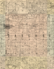Taylor, Iowa 1900 Old Town Map Custom Print - Dubuque Co.