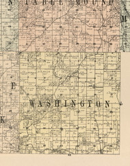 Washington, Iowa 1900 Old Town Map Custom Print - Dubuque Co.