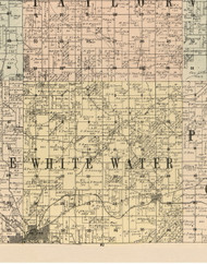 White Water, Iowa 1900 Old Town Map Custom Print - Dubuque Co.