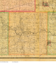 Adams, Iowa 1883 Old Town Map Custom Print - Dallas Co.