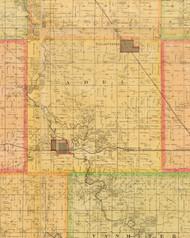Adel, Iowa 1883 Old Town Map Custom Print - Dallas Co.