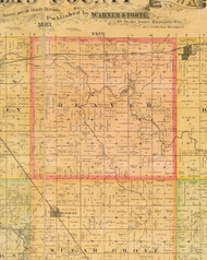 Beaver, Iowa 1883 Old Town Map Custom Print - Dallas Co.