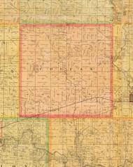 Colfax, Iowa 1883 Old Town Map Custom Print - Dallas Co.