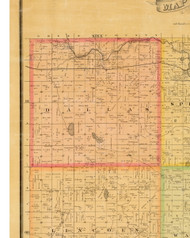 Dallas, Iowa 1883 Old Town Map Custom Print - Dallas Co.