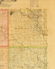 Des Moines, Iowa 1883 Old Town Map Custom Print - Dallas Co.