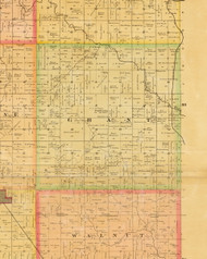 Grant, Iowa 1883 Old Town Map Custom Print - Dallas Co.