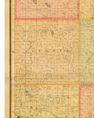 Lincoln, Iowa 1883 Old Town Map Custom Print - Dallas Co.