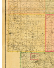 Linn, Iowa 1883 Old Town Map Custom Print - Dallas Co.