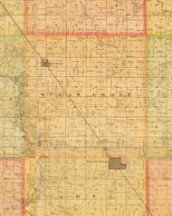 Sugar Grove, Iowa 1883 Old Town Map Custom Print - Dallas Co.