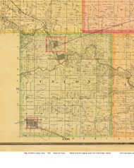 Union, Iowa 1883 Old Town Map Custom Print - Dallas Co.