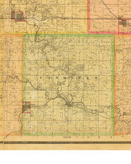 Van Meter, Iowa 1883 Old Town Map Custom Print - Dallas Co.