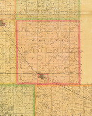 Walnut, Iowa 1883 Old Town Map Custom Print - Dallas Co.