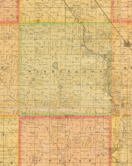 Washington, Iowa 1883 Old Town Map Custom Print - Dallas Co.