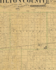 Blairsburg, Iowa 1883 Old Town Map Custom Print - Hamilton Co.