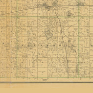 Ellsworth, Iowa 1883 Old Town Map Custom Print - Hamilton Co.