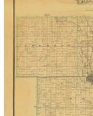 Freemont, Iowa 1883 Old Town Map Custom Print - Hamilton Co.