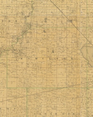 Hamilton, Iowa 1883 Old Town Map Custom Print - Hamilton Co.