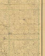 Lincoln, Iowa 1883 Old Town Map Custom Print - Hamilton Co.